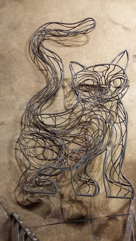 chat piat sculpture metal sara renaud supervolum (10)
