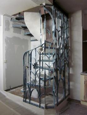 escalier fleur creation metal supervolum (33)