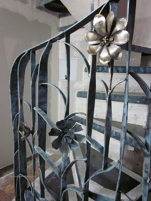 escalier fleur creation metal supervolum (34)