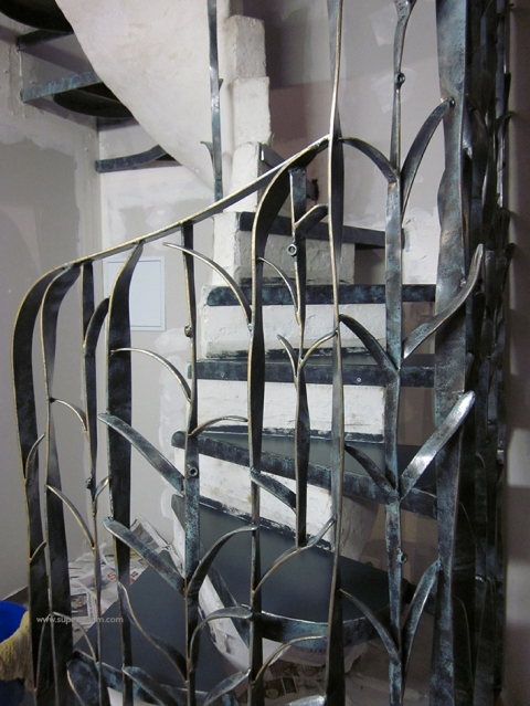 escalier fleur creation metal supervolum (51)
