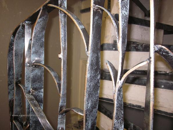 escalier fleur creation metal supervolum (53)