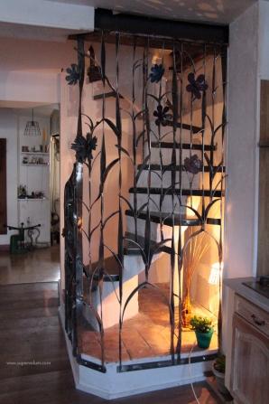 escalier fleur creation metal supervolum (58)