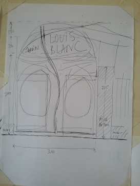 030 Portail Jardin Louis Blanc - Metal Art - Supervolum