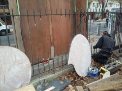 035 Portail Jardin Louis Blanc - Metal Art - Supervolum