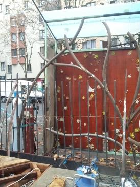 036 Portail Jardin Louis Blanc - Metal Art - Supervolum