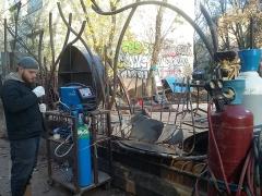 037 Portail Jardin Louis Blanc - Metal Art - Supervolum