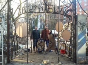 046 Portail Jardin Louis Blanc - Metal Art - Supervolum
