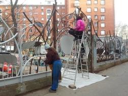 055 Portail Jardin Louis Blanc - Metal Art - Supervolum