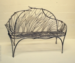 06 the singing bench- Nature inspired Metal Art - supervolum