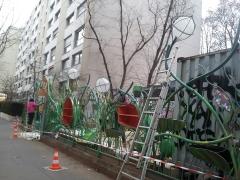 060 Portail Jardin Louis Blanc - Metal Art - Supervolum