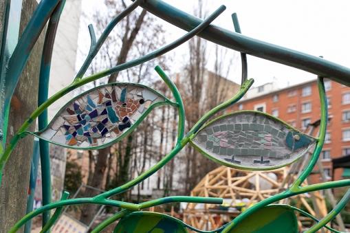 068 Portail Jardin Louis Blanc - Metal Art - Supervolum