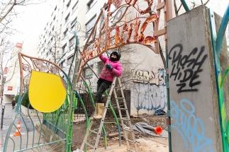 072 Portail Jardin Louis Blanc - Metal Art - Supervolum