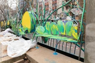 073 Portail Jardin Louis Blanc - Metal Art - Supervolum