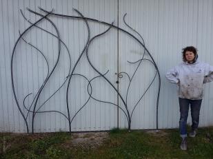 13 Chantal Grid - Nature inspired Metal Art - supervolum