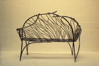 16 the singing bench- Nature inspired Metal Art - supervolum